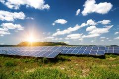 Panel słoneczny, photovoltaics, alternatywny elektryczności źródło zdjęcia stock