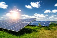 Panel słoneczny, photovoltaics, alternatywny elektryczności źródło obraz stock