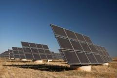 Panel słoneczny w greenfield obrazy stock