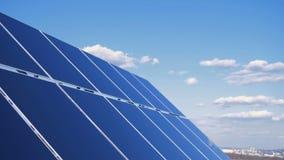 Panel Słoneczny Zbiera słońca światło 4K zdjęcie wideo
