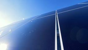 Panel Słoneczny Zbiera słońca światło Światło słoneczne odbija od panelu słoneczna bateria zbiory wideo
