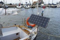 Panel słoneczny na jachcie Fotografia Stock