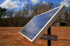 panel słoneczny profil krajobrazu Zdjęcia Stock