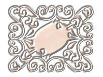 Panel scrolled backgrounds. Ornate panel scrolled designe stock illustration
