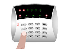 The panel of the security alarm system Royalty Free Stock Image
