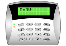 The panel of the security alarm system Stock Photos