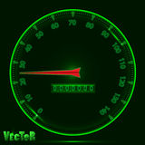 Panel speedometer with glowing effect Royalty Free Stock Images
