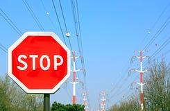 Panel stop Stock Photo
