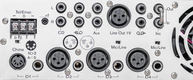Panel trasero del mezclador Imagen de archivo