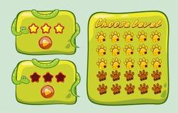 Panel For Ui Game/ Illustration. Of a set of cartoon sign design information panel royalty free illustration