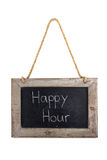 Panel wood Happy Hour Royalty Free Stock Image