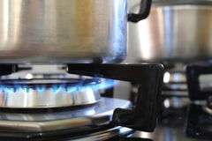 Panela на огне Стоковое Фото
