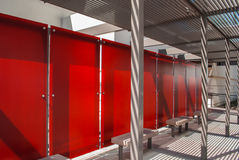 Panela vermelho Fotografia de Stock