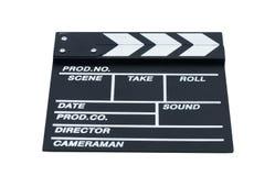 Panelas de fazer pipoca fechados para o cinema em um fundo branco Imagens de Stock Royalty Free