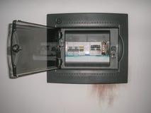 Panelboard ha danneggiato dall'impulso Fotografie Stock Libere da Diritti