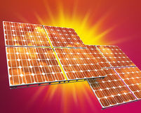 panele fotowoltaiczne słonecznego Obraz Royalty Free