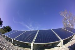 panele słoneczne Obrazy Royalty Free