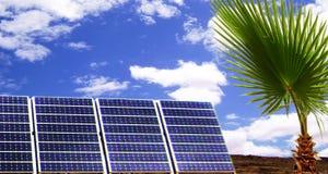 panele słoneczne energii Obrazy Royalty Free