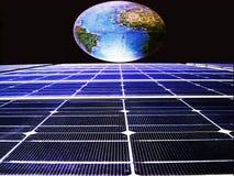 panele słoneczne energii Fotografia Royalty Free