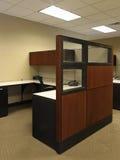 paneled det öppna höga kontoret för affärsslutet avståndsträ Royaltyfri Foto
