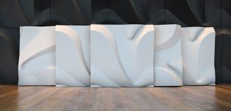 Panelen van de steekproef 3d muur Royalty-vrije Stock Foto's
