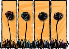 Blommapaneler Arkivfoto