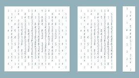 Paneler för garnering av dekorativa yttersidor, med nummer Vektorillustration av ett laser-klipp Plottarklipp- och skärmpri royaltyfri illustrationer