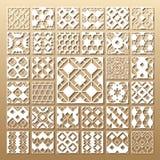 Paneler för laser-snittvektor Royaltyfria Bilder