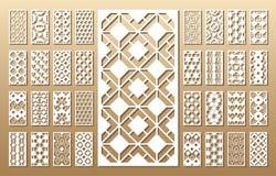 Paneler för laser-snittvektor royaltyfri illustrationer