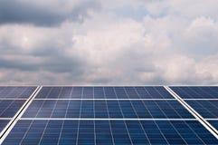 Paneler för sol- energi Royaltyfri Bild