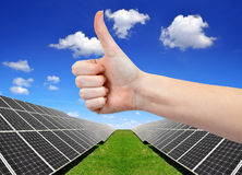 Paneler för sol- energi Fotografering för Bildbyråer