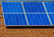 paneler roof sol- Arkivfoton