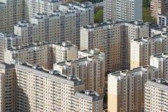 Panelhus i Moscow Arkivfoton