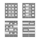 Panelhus set2 Arkivbilder