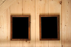 Paneling wall and frames Stock Image