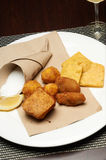 Panelle and croquettes Royalty Free Stock Images