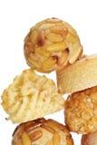 Panellets, confection typique mangée dans tout le jour de saints dans Catalon Photographie stock libre de droits