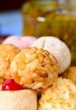Panellets, confection typique mangée dans tout le jour de saints dans Catalon Photo libre de droits