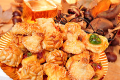 Panellets and other typical snack eaten in All Saints Day in Cat Stock Photography
