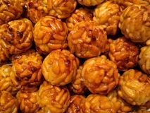 Artisan typical spanish sweet for halloween panellets stock image