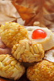 Panellets, typical pastries of Catalonia, Spain Royalty Free Stock Image