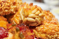 Panellets, typical pastries of Catalonia, Spain, eaten in All Sa Stock Photo