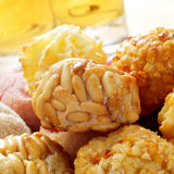 Panellets, typical pastries of Catalonia, Spain, eaten in All Sa Royalty Free Stock Photography
