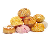 Panellets, typical pastries of Catalonia, Spain, eaten in All Sa Royalty Free Stock Images