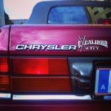 Panelljus för Chrysler vägrager Arkivbilder