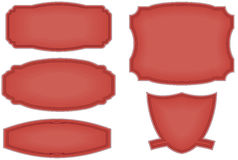 Panels. Vector illustration of various shaped panels and one shield Royalty Free Stock Photo