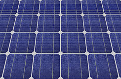 Panels of blue solar cells Royalty Free Stock Photo
