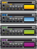 Panels of cassette radio Royalty Free Stock Photography