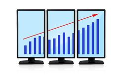 Panels with chart Royalty Free Stock Images