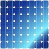 panels den sol- reflexionen Arkivfoton